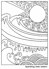 Small Picture Waves in the Sun Coloring Page for Kids Free Printable Picture