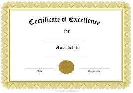 Sample Certificate Award Award Certificate Template Free Template Business