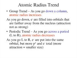 periodic trends atomic radius atomic radius trend