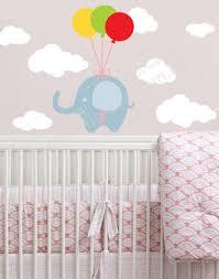 """Наклейка детская на обои """"<b>Слон</b> в облаках"""", цена 195 грн ..."""