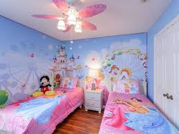 Kids Room: Fresh Nature Bedroom With Disney Themed - Disney Bedroom