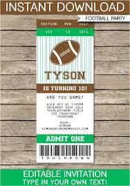 Football Party Invitations Templates Free Vip Invitation Template Free Football Birthday Party Invitation