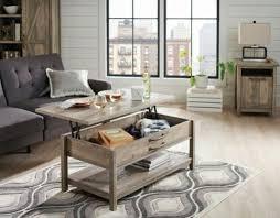 coffee table rustic gray modern