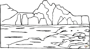 Small Picture Mountain And Rocks coloring page Free Printable Coloring Pages