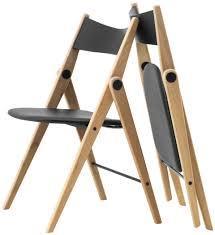 Cadeiras - Qualidade da BoConcept Oslo folding chair, black leather  look/oak