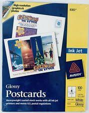 Avery 8383 Avery 3248 Ink Jet Postcards 20 Cards Envelopes For Sale