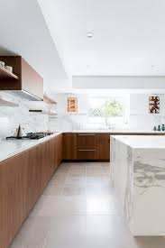 los angeles white grey marble with stainless steel under kitchen contemporary and marble backsplash brown