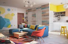 Colorful Interior Design gorgeous home interior design with colorful wall decor brings 7242 by uwakikaiketsu.us