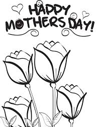 Small Picture Free Printable Mothers Day Flowers Coloring Page for Kids 3