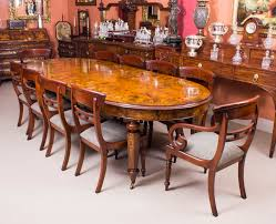 dining table with 10 chairs. Large Bespoke Burr Walnut Dining Table \u0026 Chairs Set | Marquetry Ref. No. 00059b With 10
