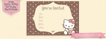 Hello Kitty Printable Birthday Invitations Printable Treats Com