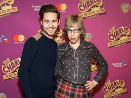 photo of the candy man can christian borle the cast of  charlie and the chocolate factory s mike wartella and jackie hoffman who will play the teevees take a pic