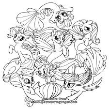 My Little Pony Movie 2017 Coloring Pages Seaponies Tulostettavia