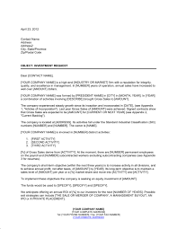 Request Sample Letters Letter Of Request For An Equity Investment Template Word Pdf