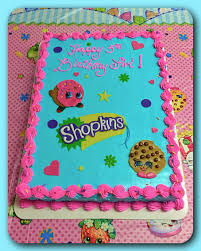 A Shopkins Sheet Cake The Great Cakery In 2019 Shopkins