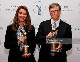 Melinda Gates and Bill Gates of the Gates Foundation, winners of the...  News Photo - Getty Images