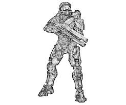 halo 4 john 117 coloring pages