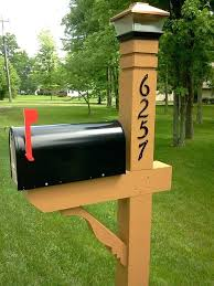 double mailbox post plans. Wooden Mailbox Post Picture Wood Double Plans Y