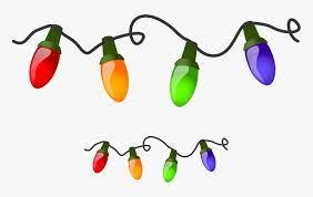 cartoon christmas tree lights