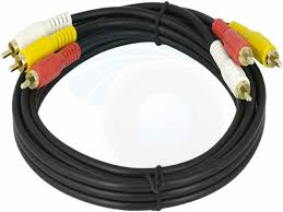 composite stereo audio video 3 rca cable wire for tv vcr dvd 5ft this composite video audio cable is specifically designed to provide sharp and clear video and sound for any digital or analogue tv projector or home a v