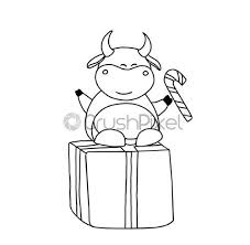 Good luck colors for new year's 2021? Year Of The Bull Ox Coloring Page The Animals Are Stock Vector Crushpixel