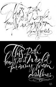 The art of hand lettering lettering sketch for word far away