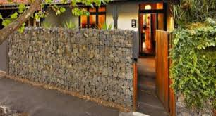 Small Picture Gabion Fences and Stone Walls Rock fence design NZ