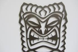 tribal tiki man metal wall sculpture metalhead art design  on tiki metal wall art with tribal tiki man metal wall sculpture metalhead art design llc