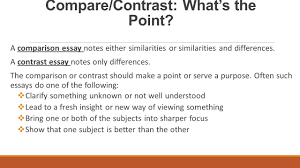 compare contrast essay structure ppt video online  5 compare contrast what s the point