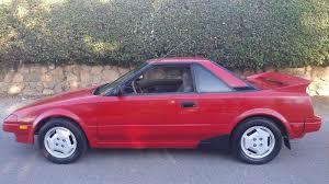 1987 Toyota MR2 1.6 liter Red