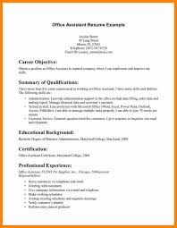 Resume Office Administrator Objectiveples Medical Samples