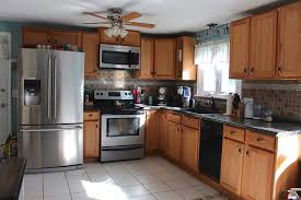 painted oak kitchen cabinets before and after. Kitchen Before Oak Cabinets Painted And After N