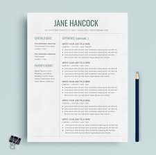 Professional Resume Template Google Docs Cv Template Cover Letter Minimalist Resume