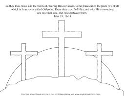 Cross Coloring Pages For Kids With Easter Cross Template Cross
