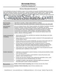 ... Professional School Counselor Resume Sample Cover Letter From A - sample  school counselor resume ...