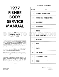 1977 chevy body repair shop manual reprint