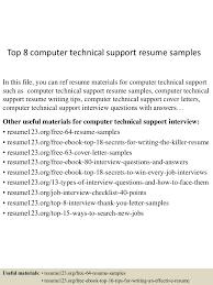 top8computertechnicalsupportresumesamples 150528141406 lva1 app6892 thumbnail 4 jpg cb 1432822850