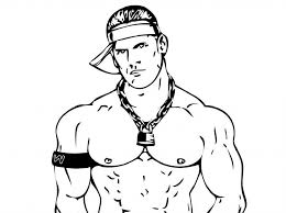 Wwe Coloring Pages John Cena Educative Printable