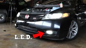 How To Install Fog Lights On Honda Civic 2005 Oedro Led Fog Lights Install 2011 Honda Civic Si Fa5