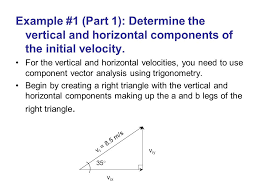 example 1 part 1 determine the vertical and horizontal components of the
