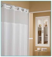 fabric clear top shower curtain