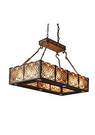 iron chandelier tallia rectangle