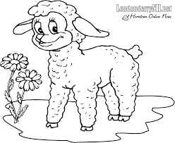 Small Picture Easter Lamb Coloring Pages GetColoringPagescom