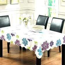 flannel backed vinyl tablecloth round multi color