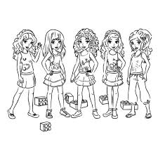 Small Picture Lego Friends Coloring Pages Stephanie Image Gallery HCPR