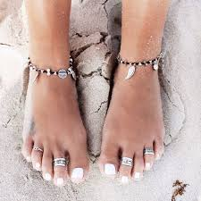 Image result for anklets and toe rings pinterest