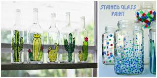 5 diy stained glass vases and jars