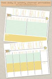 Daily Planner Printables Free Daily And Weekly Planner Printables I Should Be
