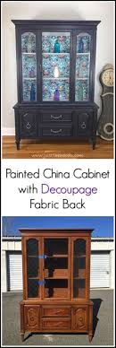 furniture makeover ideas. delighful furniture china cabinet with decoupage fabric backing intended furniture makeover ideas
