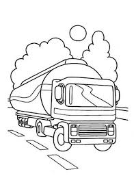 Small Picture Oil Container Semi Truck on the Road Coloring Page Download